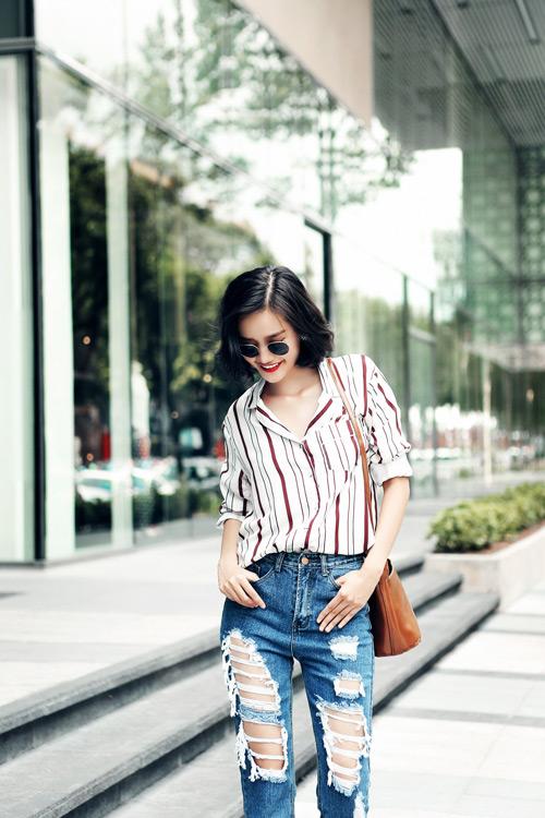 Kim Chi gợi ý cách phối đồ thu cực xinh với tóc ngắn - 14
