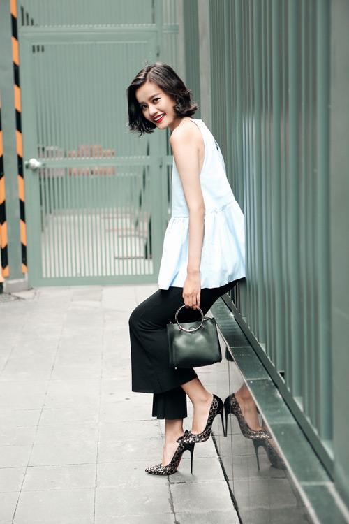 Kim Chi gợi ý cách phối đồ thu cực xinh với tóc ngắn - 16