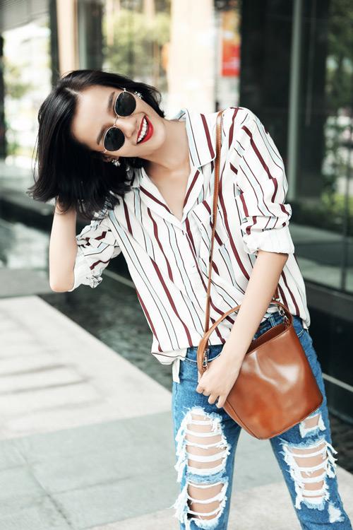 Kim Chi gợi ý cách phối đồ thu cực xinh với tóc ngắn - 15