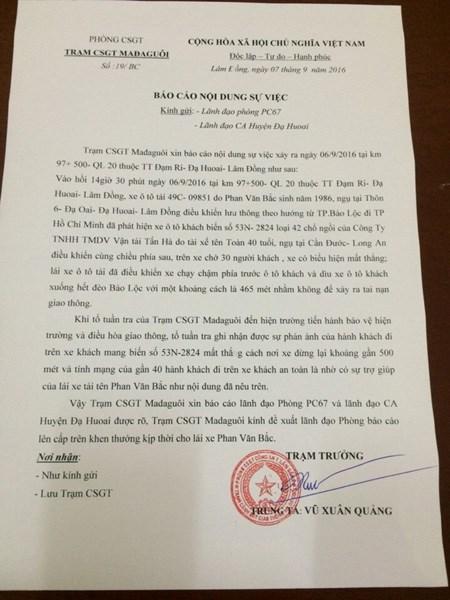 Công an Lâm Đồng: Cứu xe khách xong, anh Bắc rất run - 3