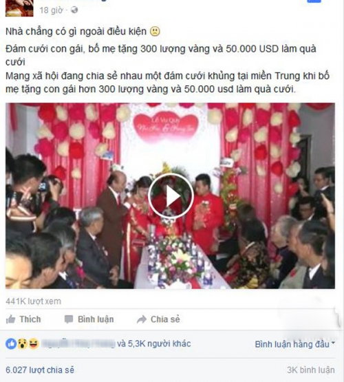 """""""Choáng"""" với hồi môn đám cưới gần 11 tỷ ở miền Trung - 1"""