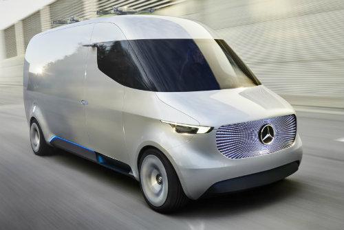 Mercedes-Benz ra mắt Vision Van concept mang cả UAV - 1