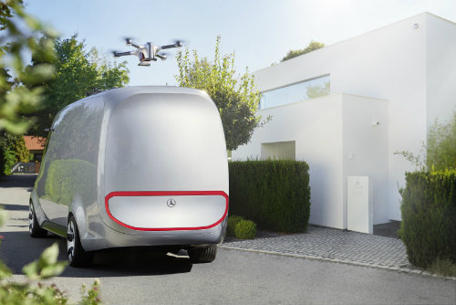 Mercedes-Benz ra mắt Vision Van concept mang cả UAV - 2