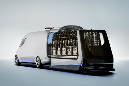 Mercedes-Benz ra mắt Vision Van concept mang cả UAV - 5