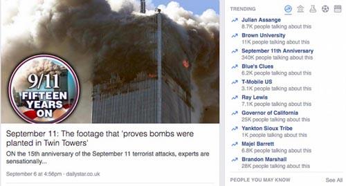 Facebook gây bão vì tuyên truyền thuyết âm mưu vụ 11.9 - 2