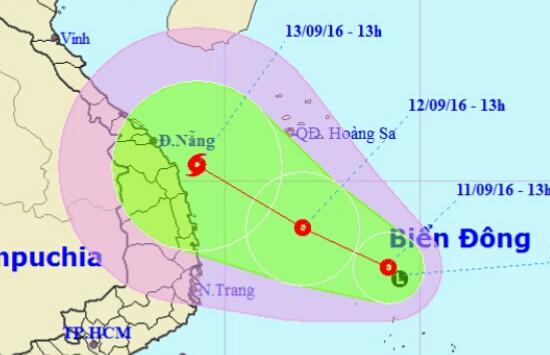 Áp thấp nhiệt đới mạnh lên, hướng vào Quảng Ngãi - Khánh Hòa - 1