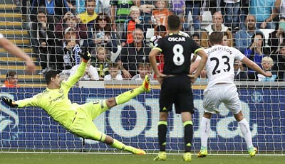 Chi tiết Swansea - Chelsea: Costa gỡ hòa với siêu phẩm (KT) - 10