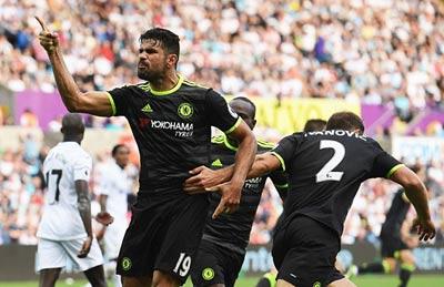 Chi tiết Swansea - Chelsea: Costa gỡ hòa với siêu phẩm (KT) - 14