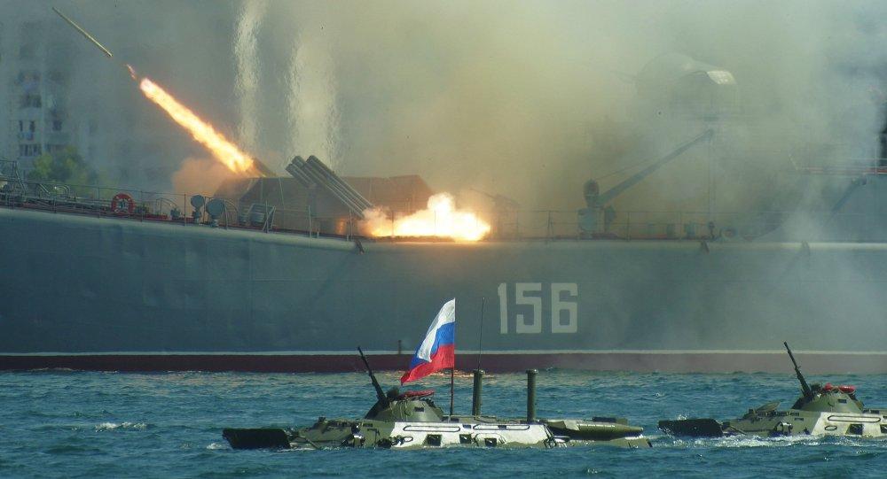 Nga - Trung Quốc bắt đầu tập trận lớn tại Biển Đông - 1