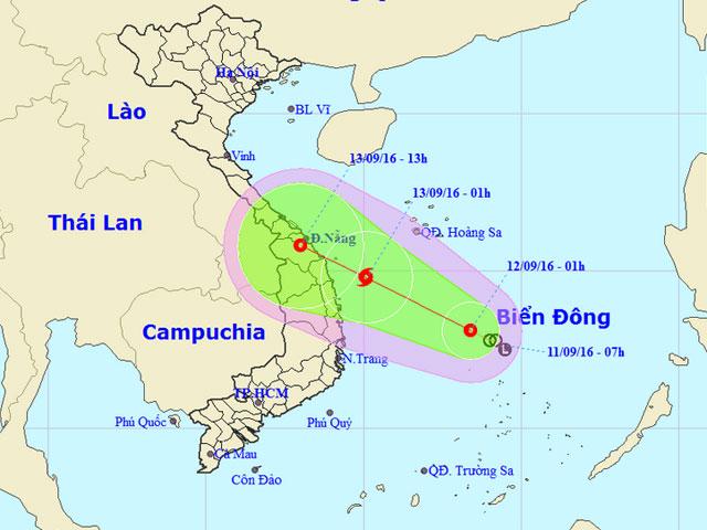24 giờ tới, áp thấp nhiệt đới có thể mạnh lên thành bão - 1