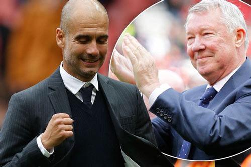 Ngán ngẩm vì Mourinho, Sir Alex ôm chúc mừng Pep - 1