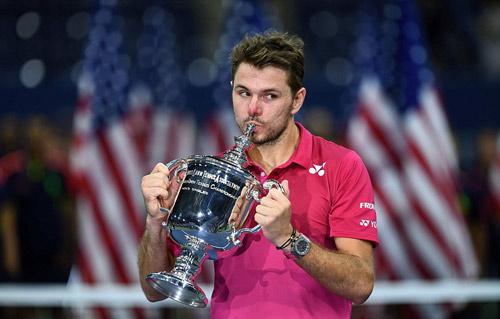 Góc ảnh CK US Open: Djokovic đổ máu, Wawrinka rơi lệ - 2