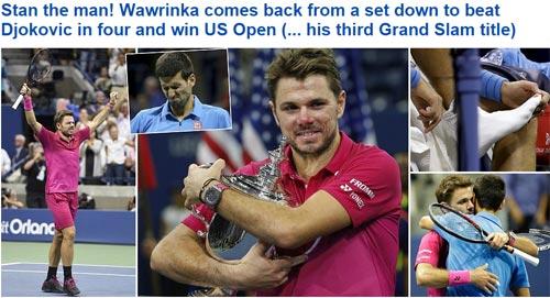 CK US Open: Hạ Djokovic, thế giới ngả mũ trước Wawrinka - 1