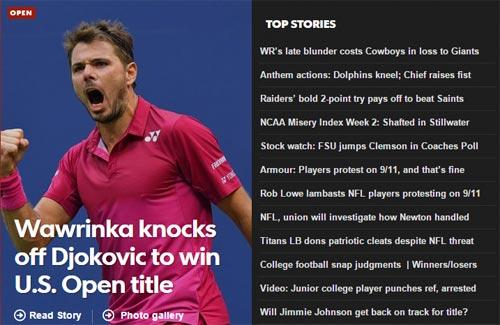CK US Open: Hạ Djokovic, thế giới ngả mũ trước Wawrinka - 2