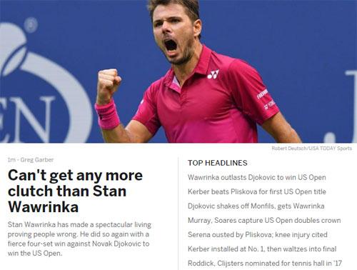CK US Open: Hạ Djokovic, thế giới ngả mũ trước Wawrinka - 3