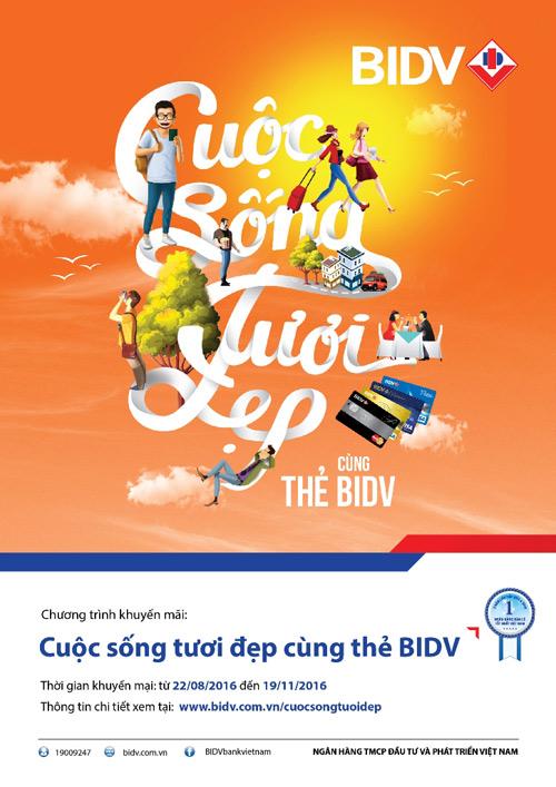 Cuộc sống tươi đẹp cùng thẻ BIDV - 1