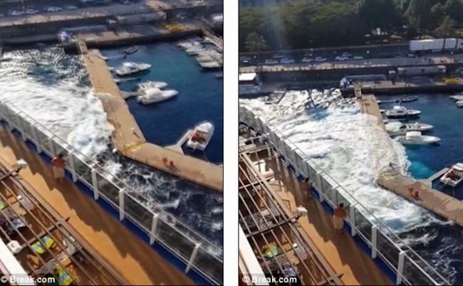 """Du thuyền 134.000 tấn tạo """"sóng thần"""" đánh đắm tàu - 1"""