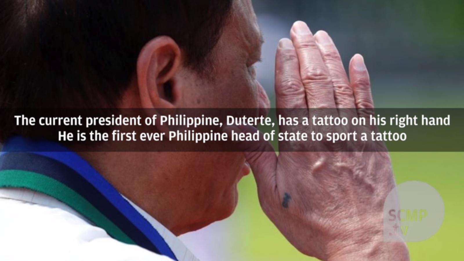 Hình xăm tiết lộ quá khứ của Tổng thống Philippines - 1