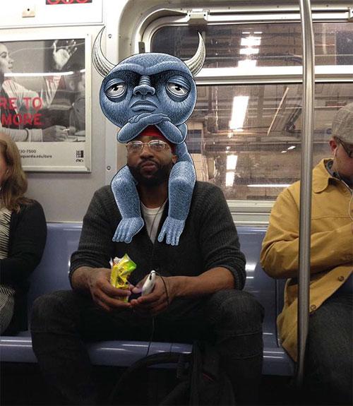 Bộ ảnh cười khiến mọi người không dám ngủ nơi công cộng - 8