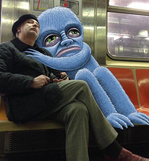 Bộ ảnh cười khiến mọi người không dám ngủ nơi công cộng - 5