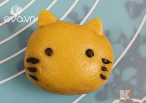 Cách làm bánh Trung thu hình chú mèo ngộ nghĩnh cho bé - 7