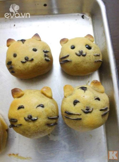 Cách làm bánh Trung thu hình chú mèo ngộ nghĩnh cho bé - 8
