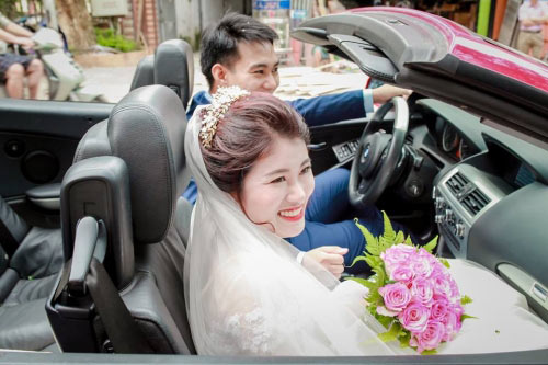 Choáng màn rước dâu 100 xe ô tô của cặp đôi Sơn La - 1