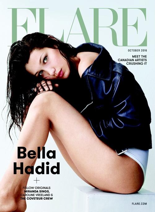 Bella Hadid hờ hững khoe ngực trên tạp chí Flare - 8