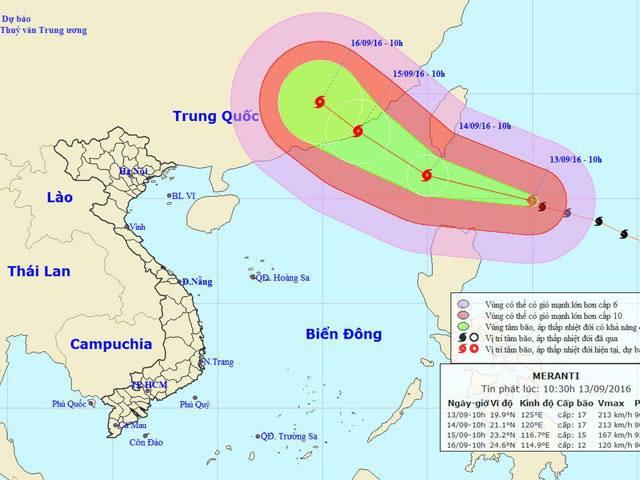 Siêu bão có sức gió giật cấp 17 đang tiến gần Biển Đông - 1
