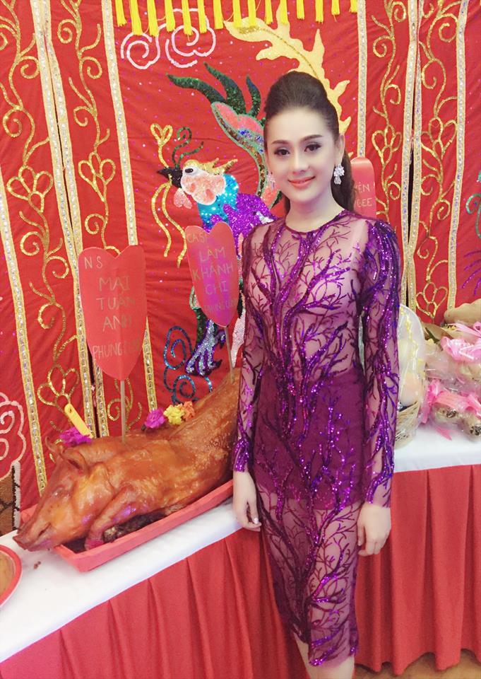 Lâm Chi Khanh lên tiếng vì bị chê mặc xuyên thấu đi cúng Tổ nghề - 2