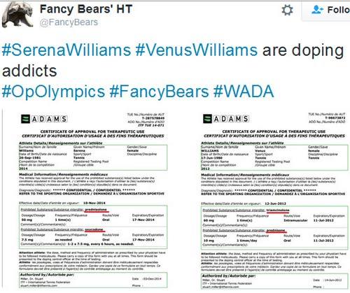 Thông tin mật bị đánh cắp: Serena bị tố dùng chất cấm - 2