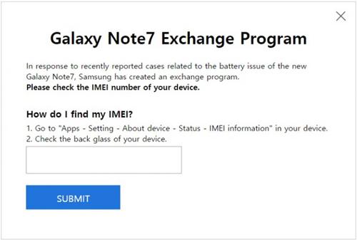 Samsung giúp người dùng kiểm tra lỗi Galaxy Note 7 trên web - 1