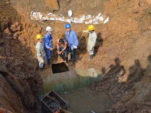 Đường ống dẫn nước sạch Sông Đà gặp sự cố lần thứ 19 - 1