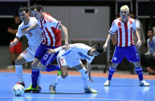 """Ảnh: Futsal Việt Nam """"trở lại mặt đất"""" trận gặp Paraguay - 7"""