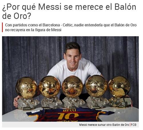 Báo thân Barca khởi động chiến dịch QBV cho Messi - 1