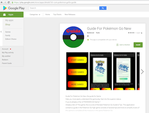 """Nửa triệu lượt tải phần mềm độc hại """"đội lốt"""" Pokémon GO - 1"""