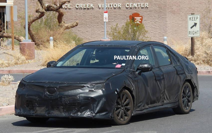 Nguyên mẫu Toyota Camry 2018 lộ ảnh chạy thử - 4