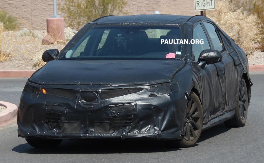 Nguyên mẫu Toyota Camry 2018 lộ ảnh chạy thử - 3