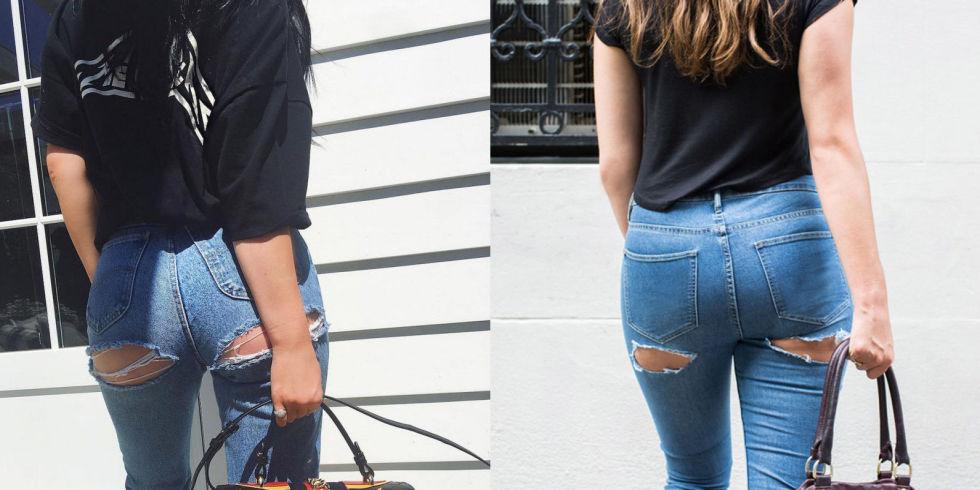Nóng mắt vì chị em đua nhau mặc quần rách mông - 7