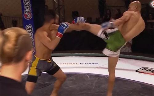 Kinh điển MMA: Tung 1 đá hạ đối thủ sau 7 giây - 1