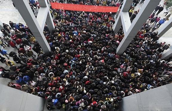 23 bức ảnh cho thấy Trung Quốc đông dân đến nghẹt thở - 1