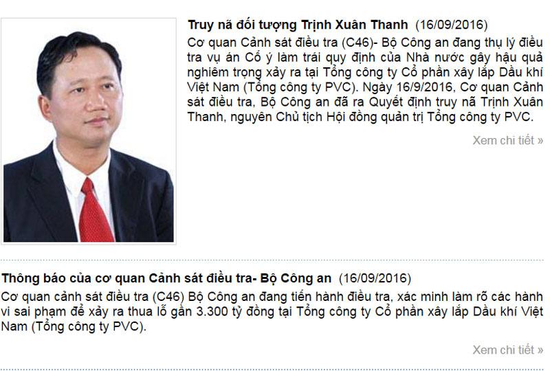 Phát lệnh truy nã quốc tế ông Trịnh Xuân Thanh - 1