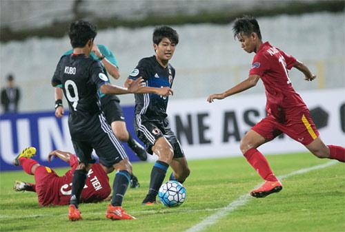 """""""Messi Nhật"""" được khen với siêu phẩm xé lưới U16 VN - 2"""