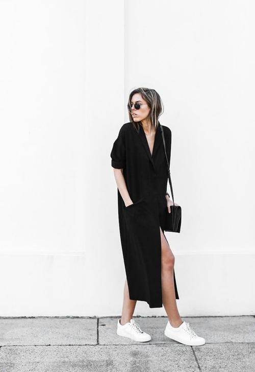 Đây là cách bạn mặc váy đen đi làm cả tuần nếu thích - 5