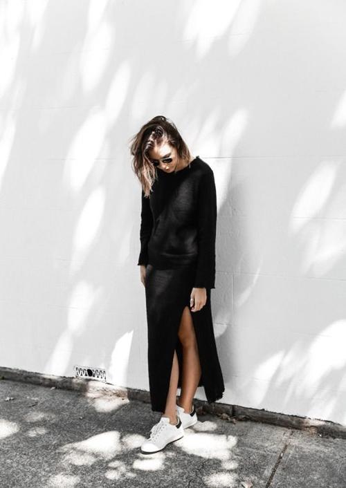 Đây là cách bạn mặc váy đen đi làm cả tuần nếu thích - 6