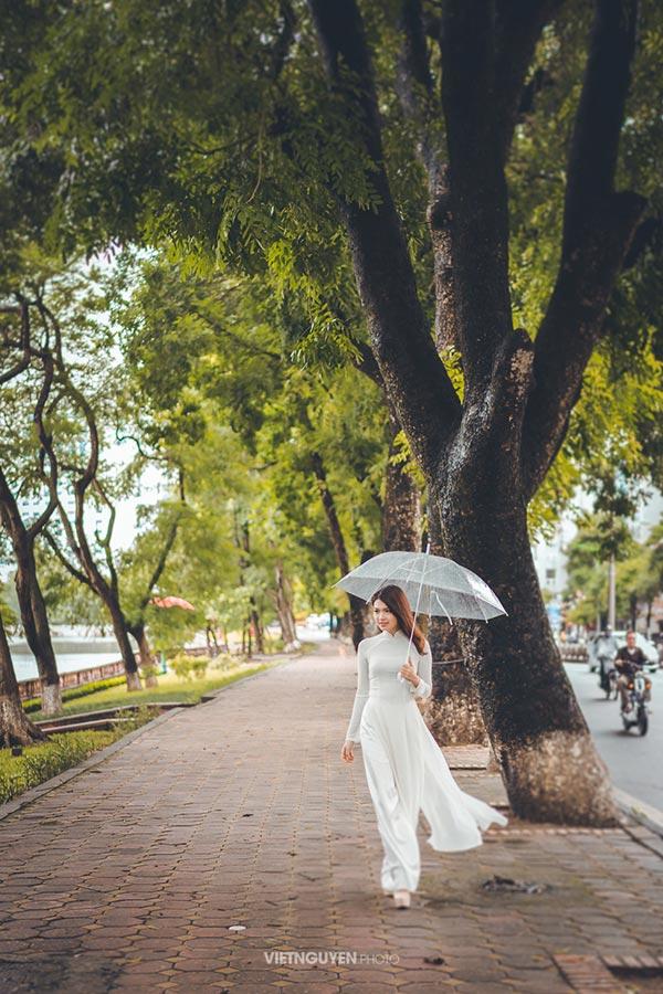 Hoa khôi SV Hà Nội khoe sắc bên hàng cây cổ thụ Thủ Lệ - 3