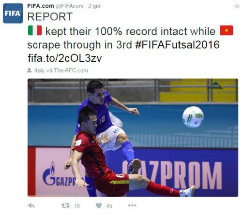 Tiến xa ở World Cup, Futsal Việt Nam được FIFA khen ngợi - 1