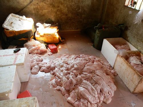 2 tấn vú heo TQ được cất giấu trong căn biệt thự ở SG - 1