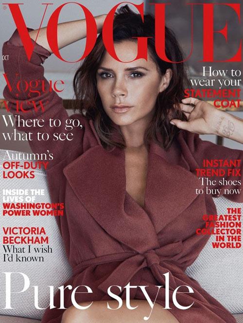 Victoria Beckham đẹp trầm lắng trên Vogue UK - 1