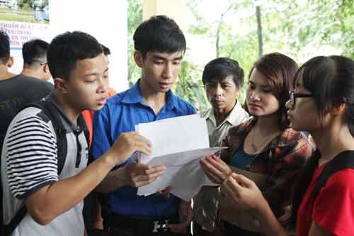 Chọn sinh viên ĐH Quốc gia HN thi thử đề minh họa năm 2017 - 1